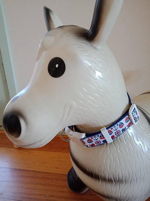 Nautical dog collar - medium