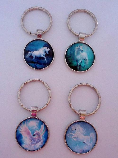 Horse / unicorn keyrings