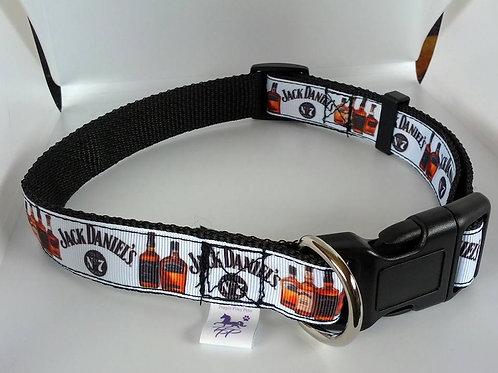 Jack Daniel pattern adjustable dog collars