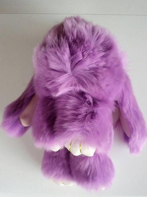 Cute fluffy bunny keyrings