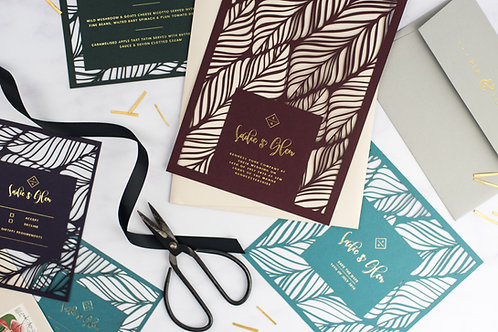 Feather Pattern Invitation