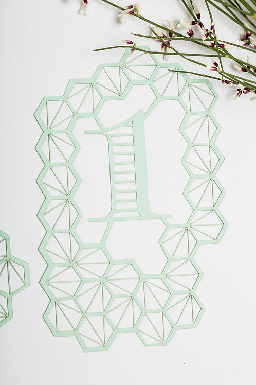 Lasercut Table Numbers