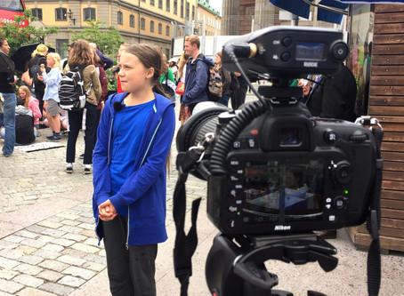 Filming Greta Thunberg in Stockholm