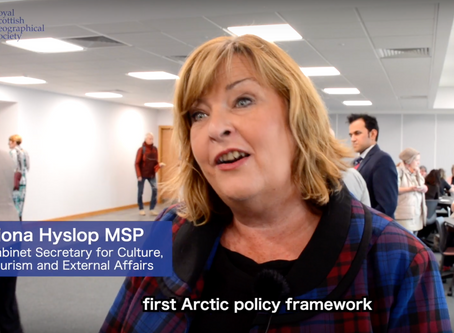 Filming ScotGov's new Arctic Policy Release