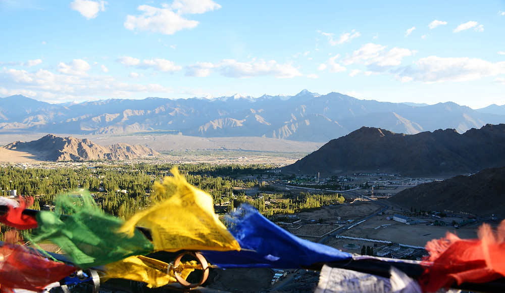 Indus Valley from Shanti Stuppa, Leh