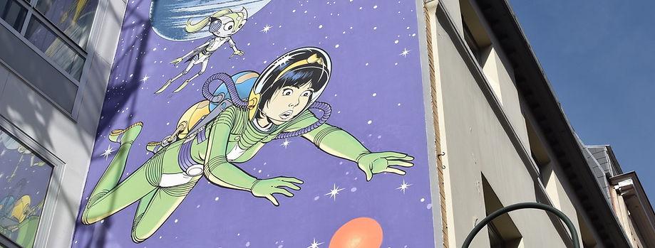 Fresque Yoko Tsuno