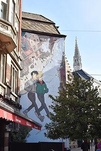 Les fresques de Catherine et Broussaille à Bruxelles.©Dims