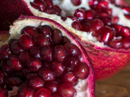 A Mindful Moment with a Pomegranate