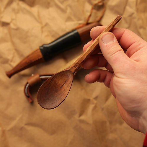 Japanese Style Baby Spoon in carbonized black cherry