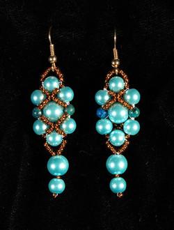 Prom Earrings Blue