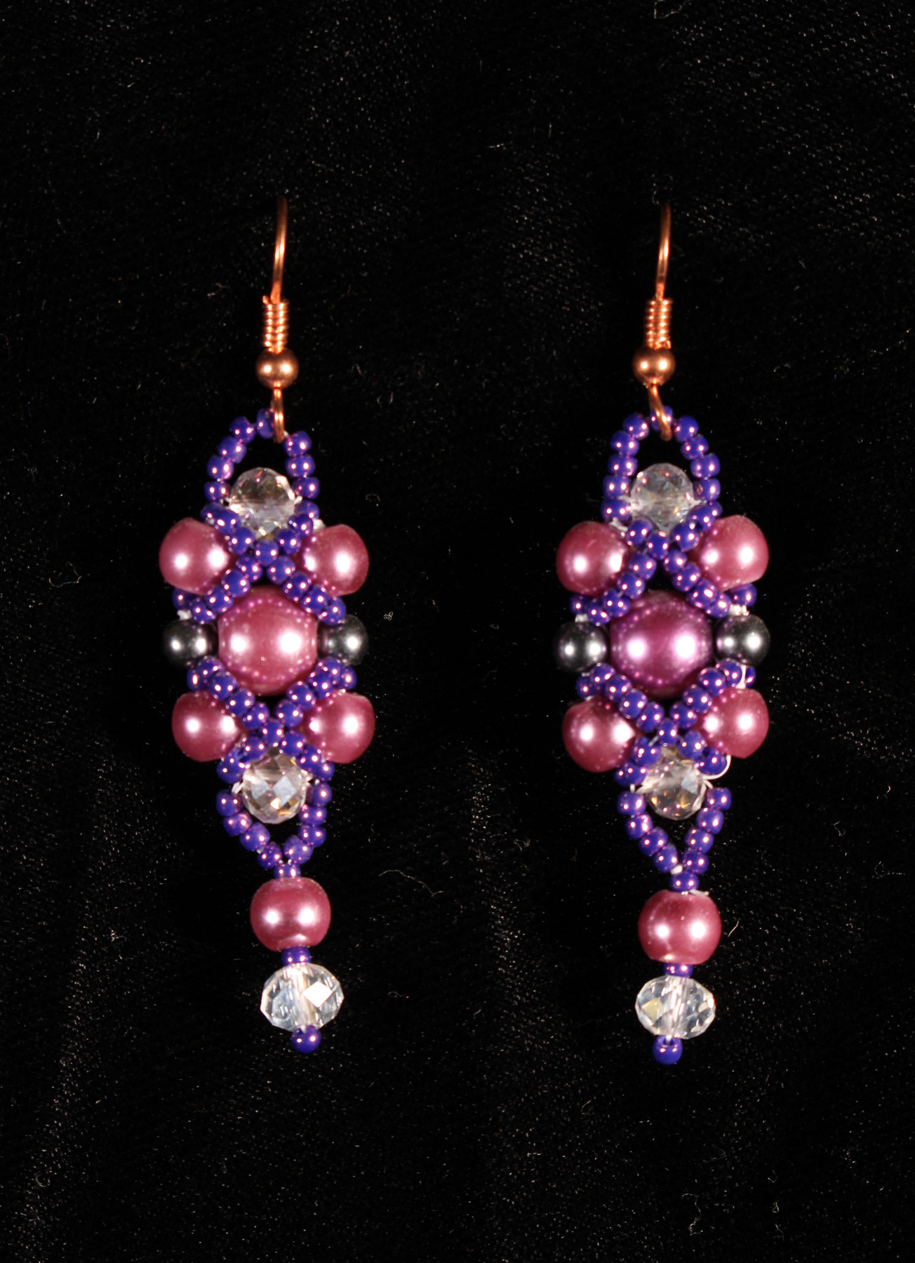 Prom Earrings Purple
