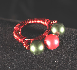 3 Bead Wire Ring
