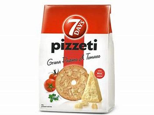 7Days Pizzeti Chips, Grana Padano and Tomato,  160 gr Bag