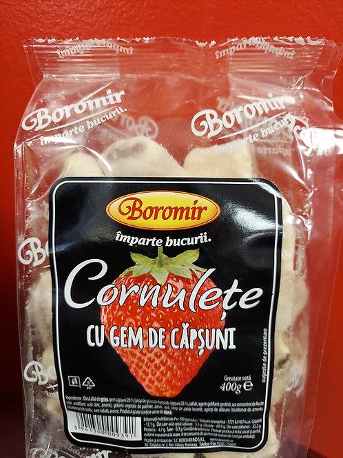 Cornulete cu gem de capsuni 400 g