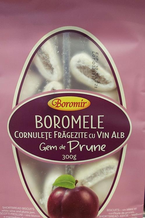 Boromele cornulete fragezite cu vin alb gem de prune 300 g