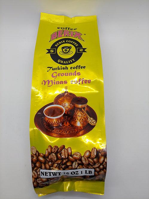 Berix coffee, ground turkish style 1 lb