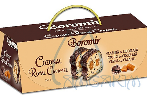 COZONAC ROYAL CARAMEL W/ CARAMEL CREAM & CHOCOLATE CHIPS 550G