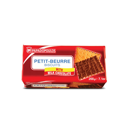 Petit beurre w/milk chicolate 200g