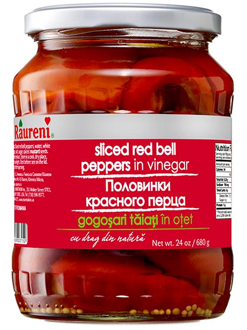 SLICED RED PEPPERS IN VINEGAR (GOGOSHARI) RAURENI 680G