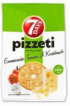 7Days Pizzeti Chips, Ementaler and Tomato,  160 gr Bag