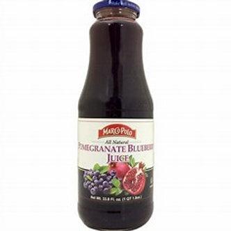 MARCO POLO Pomegranate Blueberry Juice 1L(33.8oz) bottle