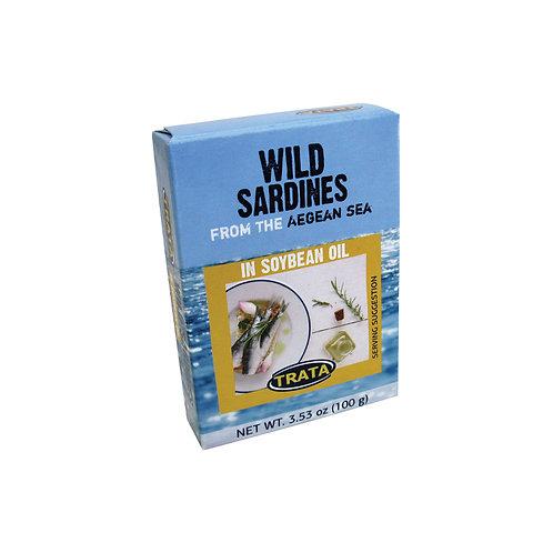 Trata sardines in soybean oil