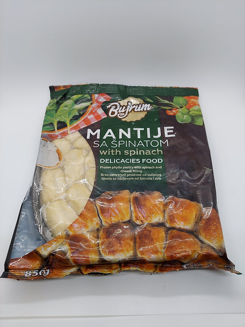Mantije with spinach 850g