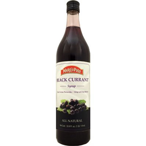 MARCO POLO Black Currant Syrup 1L (33.8oz) bottle