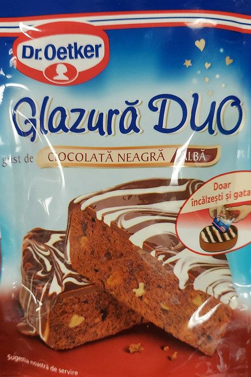 Glazura duo gust de ciocolata neagra 100 g