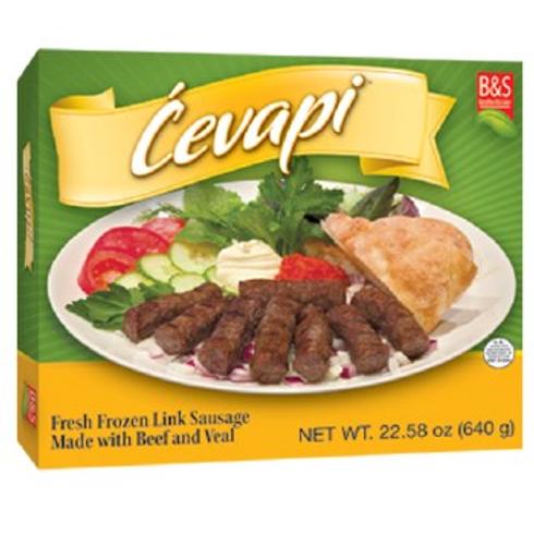 Brother & Sister Beef - Veal Link Sausage (Frozen Cevapi) 1.6LB