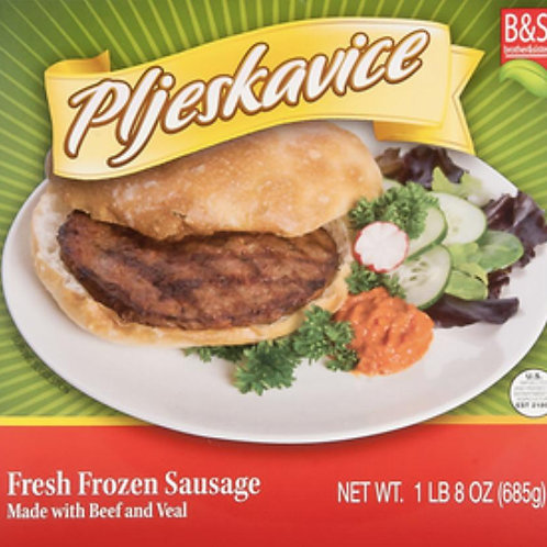 Brother & Sister Beef Pljeskavice 1.5LB
