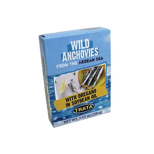 Trata anchovies with oregano