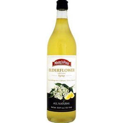 MARCO POLO Elderflower Syrup 1L (33.8oz) bottle