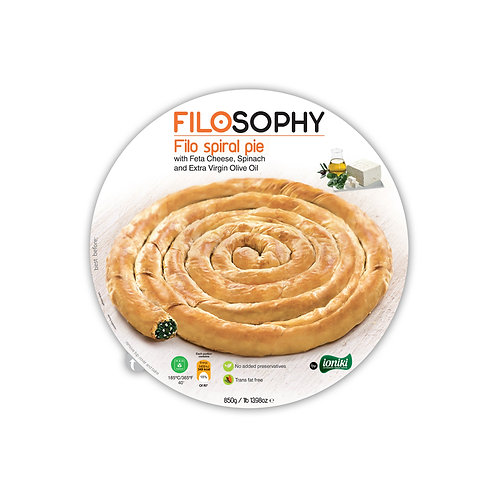 Filosophy spinach/cheese spiral pie 850g