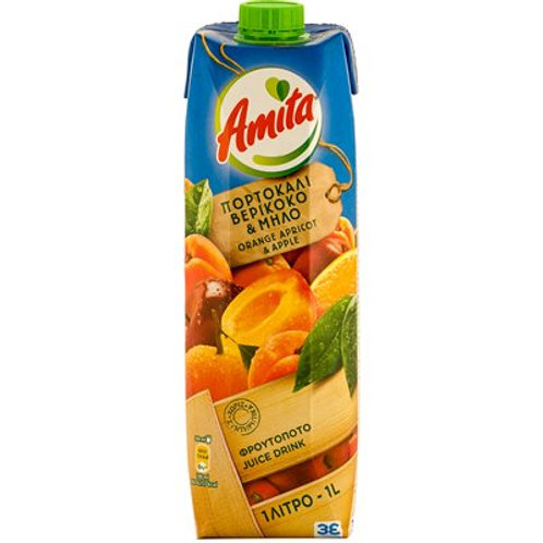 AMITA Orange, Apple & Apricot Nectar 1L tetra pak