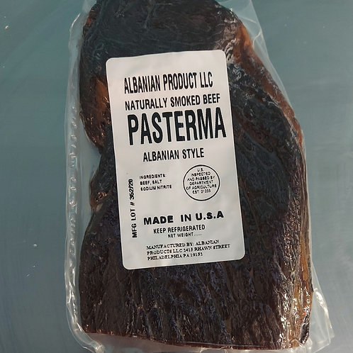 Pasterma, Albanian style Beef 100%. 0.7 lb