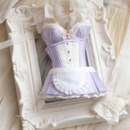 Dollfiedream size corset dress set.Maid style