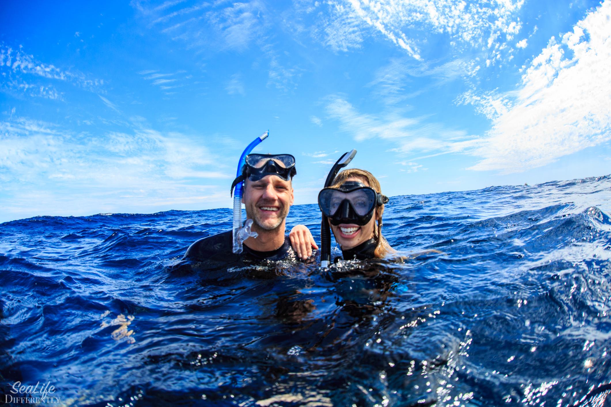 Enjoying snorkeling