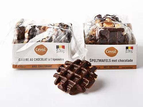 Speltwafels met chocolade (suikervrij)