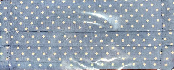 Light blue w/ polka dots. Adult Size