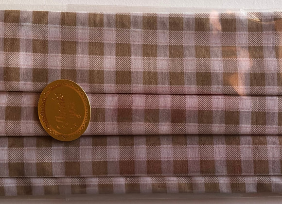 Brown Plaid. Adult Size