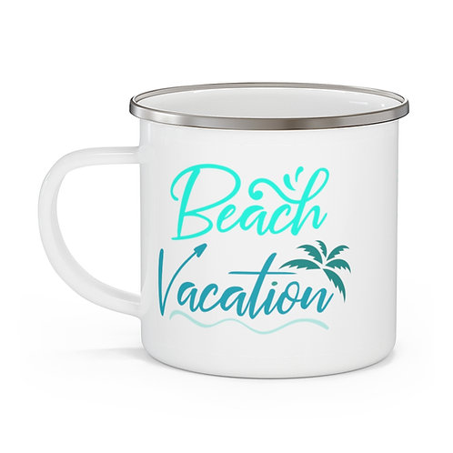 Beach Vacation Enamel Beach Mug