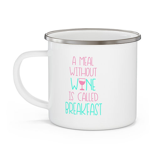Breakfast Enamel Beach Mug