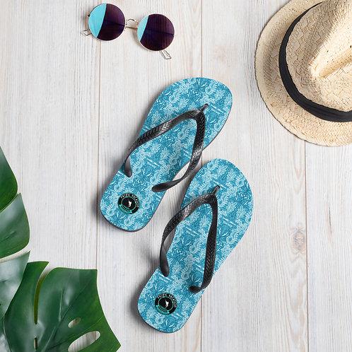 Seahorses Azul Off Playa Flip-Flops
