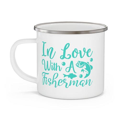 Fisherman Love Enamel Beach Mug