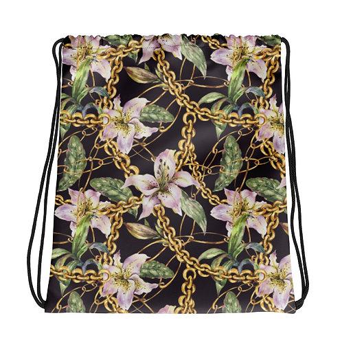 Pink Lily La Ropa Drawstring Bag