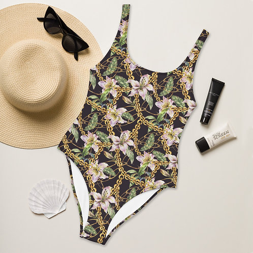 Pink Lily Playa Perfect One-Piece Swimsuit