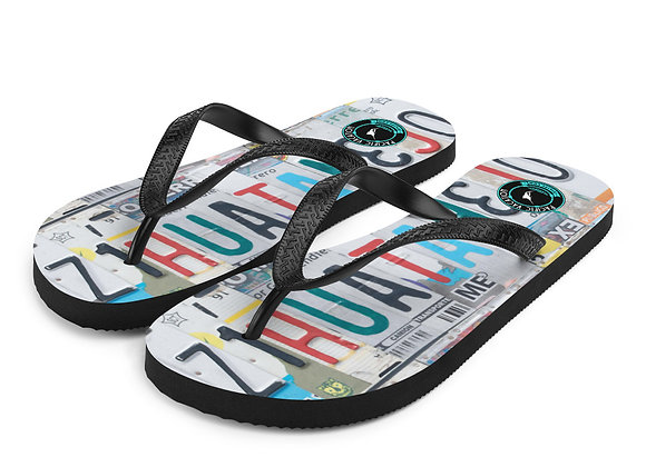 Zihua License Plate Flip-Flops