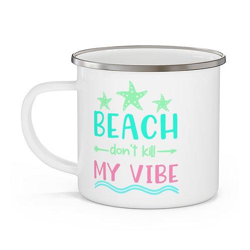 My Vibe Enamel Beach Mug