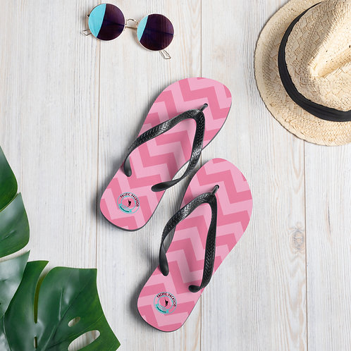 Pink Zags Off the Playa Flip-Flop